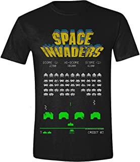 Official Space Invaders Retro 'Classic Screenshot' Adult T-Shirt (XXL)