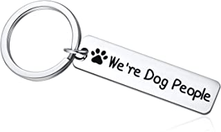 Animal Lover Gift, Dog Lover Gifts for Women or Men, We're Dog People Keychain for Veterinarian, Dog Mom, Dog Dad, Animal Rescue or Vet Tech