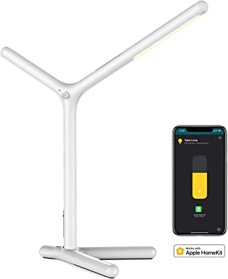 iHaper DL1 Smart Desk Lamp - 7W LED Smart Table Lamp, Dimmable Warm White, Eye-Caring Reading Lamp, Support Siri Voice Control (no hub Required)