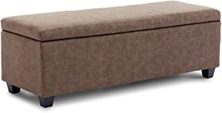 Best brown fabric storage bench Reviews