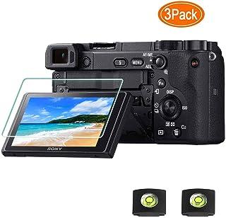 Protector de pantalla A6400 para cámara Sony Alpha A6400 A6300 A6000 A5000 y cubierta de zapata calienteULBTER 9H Dureza LCD de vidrio templado antiarañazos antihuellas antiburbujas [3 unidades]