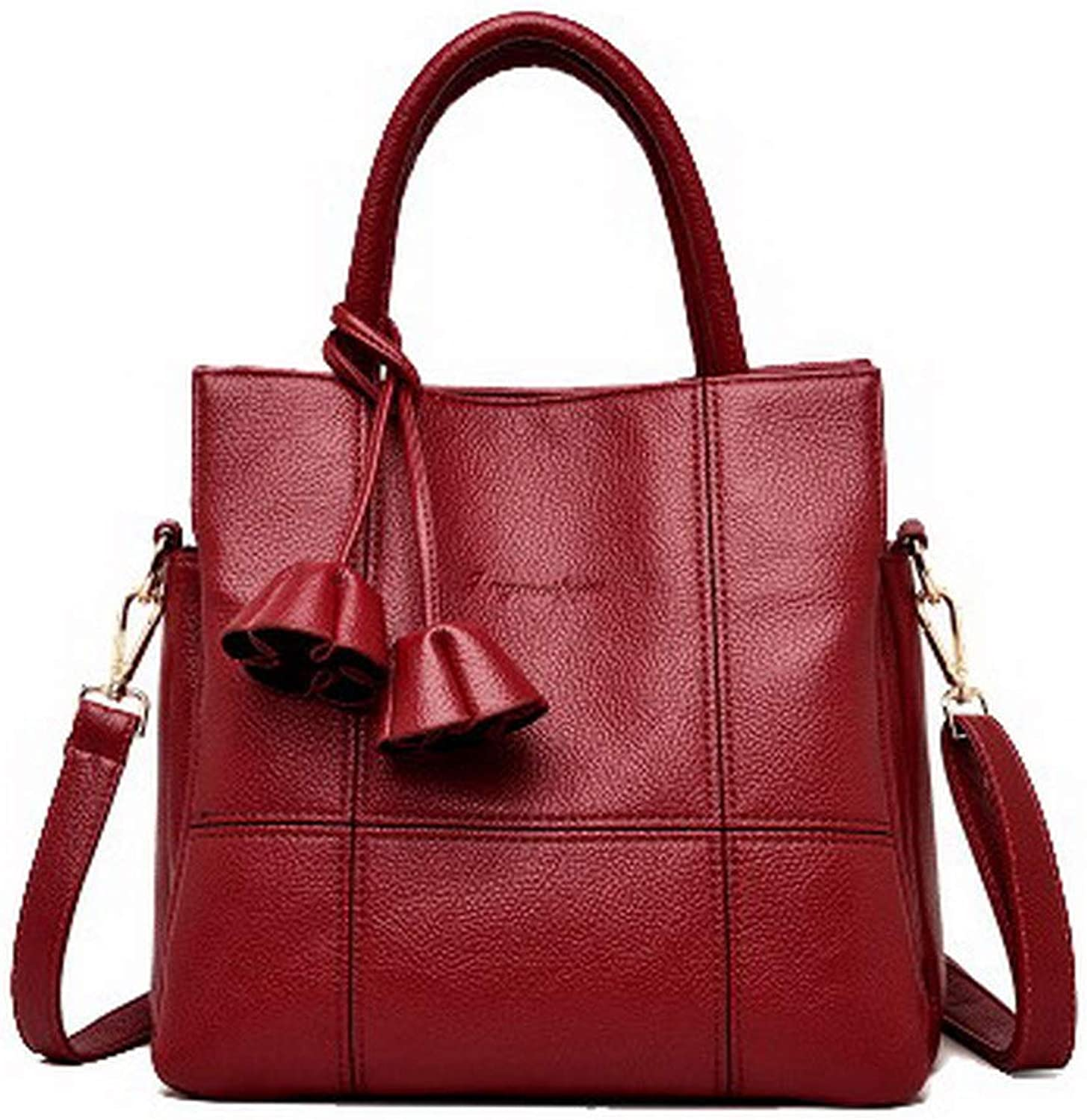 AmoonyFashion Women's Tote Bags Casual ToteStyle Shopping Pu Crossbody Bags,BUTBT191879