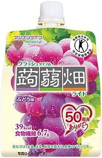 [トクホ]マンナンライフ クラッシュタイプの蒟蒻畑 ライト ぶどう味 150g×6個
