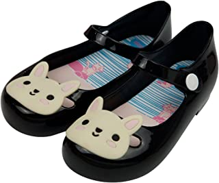 Girls Princess Smell Sweet Cute Rabbit Jelly Shoes Toddler Kids Mary Jane Flats