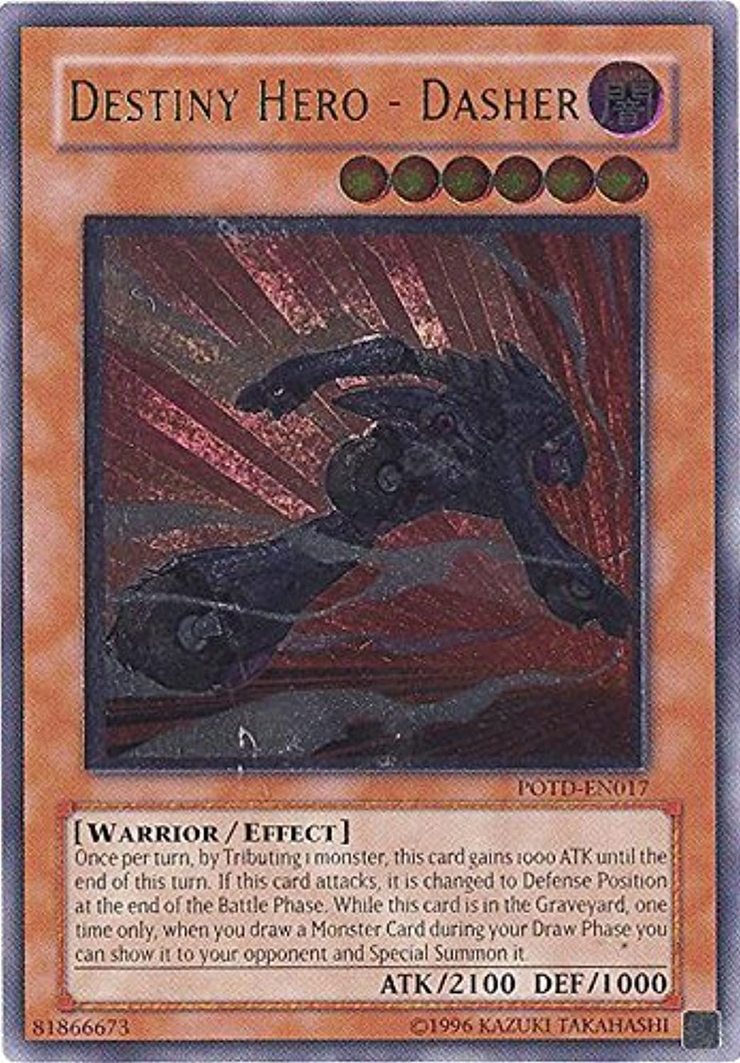 Yu-Gi-Oh  - Destiny Hero - Dasher (POTD-EN017) - Power of the Duelist - Unlimited Edition - Ultimate Rare