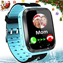 Kids Smart Watches for Girls Boys GPS Tracker IP67 Waterproof Smartwatch Phone Two Way Call SOS Camera Math Game Voice Chat Alarm Clock LED Flashlight 1.44