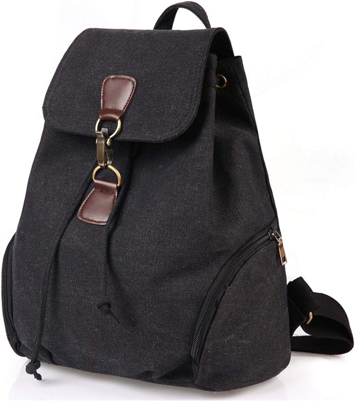 Women Men's Canvas Rucksack, Messenger Bags Travel Backpack Drawstring Bags Shoulder Handbags Hiking Backpacking Packs for School,3