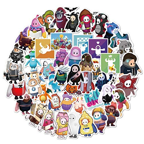 YZFCL Fantasy Space Astronaut Sticker Neon Outer Space Planet Monster Cartoon Decal Scrapbook Bullet Magazine Graffiti Toy 50Pcs