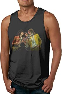 Men's Faces Rod Stewart and Ronnie Wood Sleeveless Tank Top Casual Sport Gym Vest Shirt