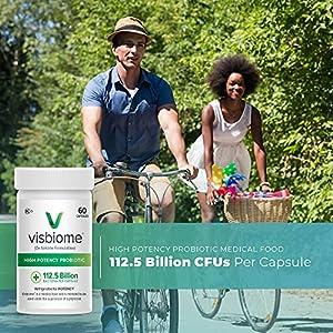Visbiome - High Potency Probiotics, 112.5 Billion CFU Live Bacteria, 60 Capsules