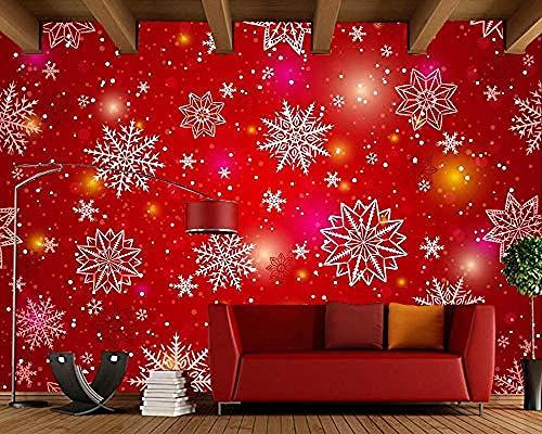 exture Snowflakes Festival Wallpaper Restaurant Wohnzimmer Bar TV Hintergrund Sofa Wand Küche Wandbild Weihnachtsde Tapete wandpapier fototapete 3d effekt tapeten Wohnzimmer Schlafzimmer-250cm×170cm