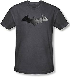 Batman Logo bate de los hombres camiseta color gris