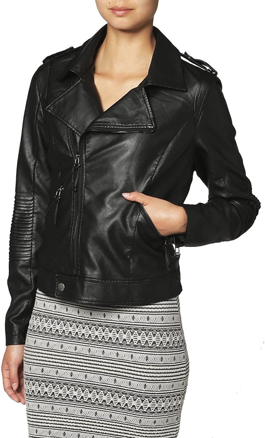 Womens Sheep Leather Motorcycle Slim Fit Outwear Jackets LFW002