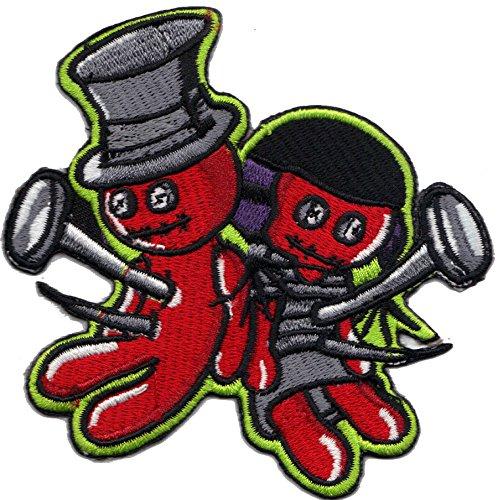 Voodoo Puppen Zauber Black Magic Rockabilly Biker Patch Aufnäher Aufbügler Sticker