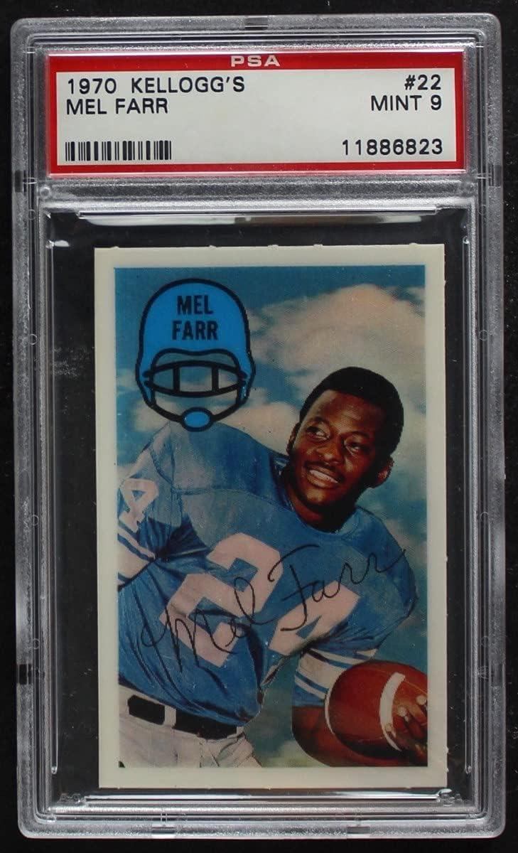 1970 Kellogg's # Very popular 22 Mel Farr PSA Detroit Card Lions overseas P Football