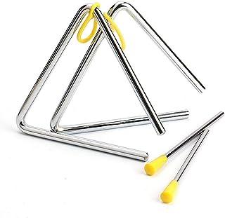 Juego de 2 Triángulo para Instrumento Musical, Triángulo Percusion con Batidor para Educación Musical Temprana, Aprendizaj...