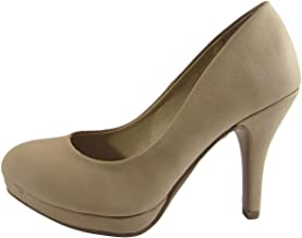 Women's Classic Dress Pump W Extra Cushioned in Sole Round Toe & Platform
