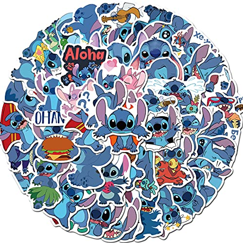 Lilo and Stitch Stickers 50pcs Car Bumper Stickers, Anime Stickers ,Waterproof Vinyl Stickers,Motorcycle Bicycle Luggage Phone Computer Decal Graffiti Patches Skateboard Stickers for Teens Girls Kids