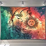 PASHOP Moon Tapestry, Sun Tapestry Wall Hanging Psychedelic Trippy Tapestry for Bedroom Wall Art Decor Tapestries for Living Room
