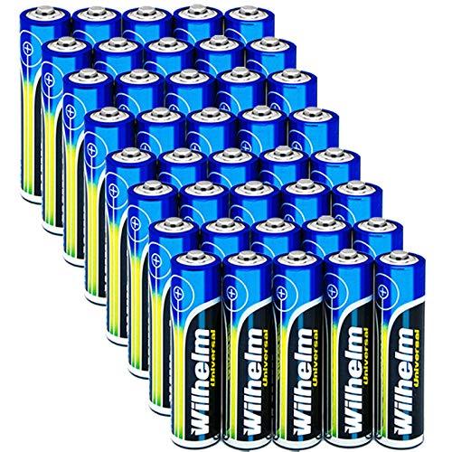 Wilhelm 40 AAA Mikro Universal Alkaline Batterien im Shrink LR03…