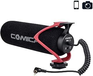 Comica CVM-V30 LITEビデオガン外付けマイク高性能SONY/Nikon/Canon/一眼レフカメラ/iPhone/Huawei用(赤)