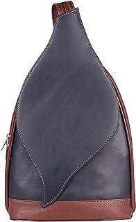OBC Only-Beautiful-Couture OBC Made in Italy Damen echt Leder Rucksack Lederrucksack Tasche Schultertasche Ledertasche Nappaleder Handtasche