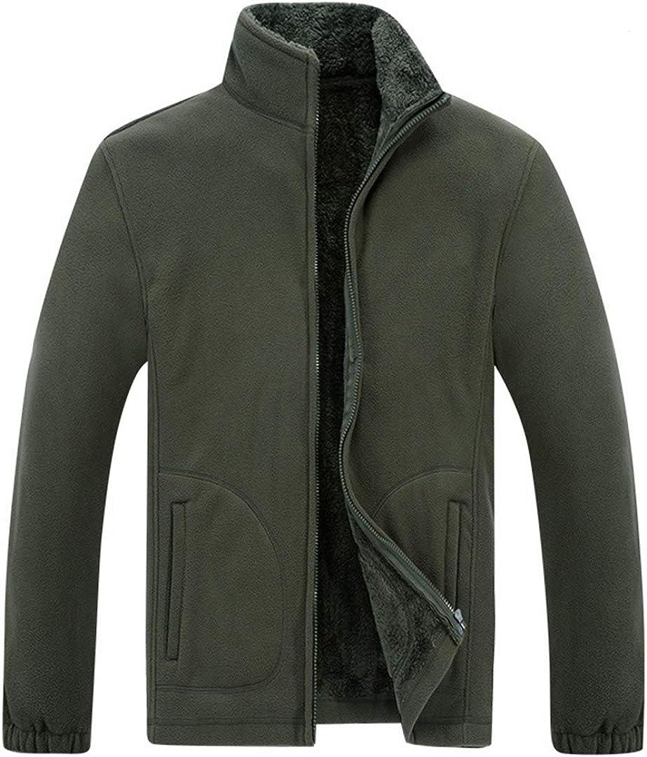 Duyang Men's Outdoor Warm Fleece Jacket Full Zip Soft Polar Fleece Outwear Coat