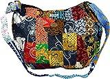 Guru-Shop Patchworktasche Bali, Unisex - Adultos, Multicolor, Algodón, Tamaño:One Size, 35x40x7 cm, Bolsas de Hombro