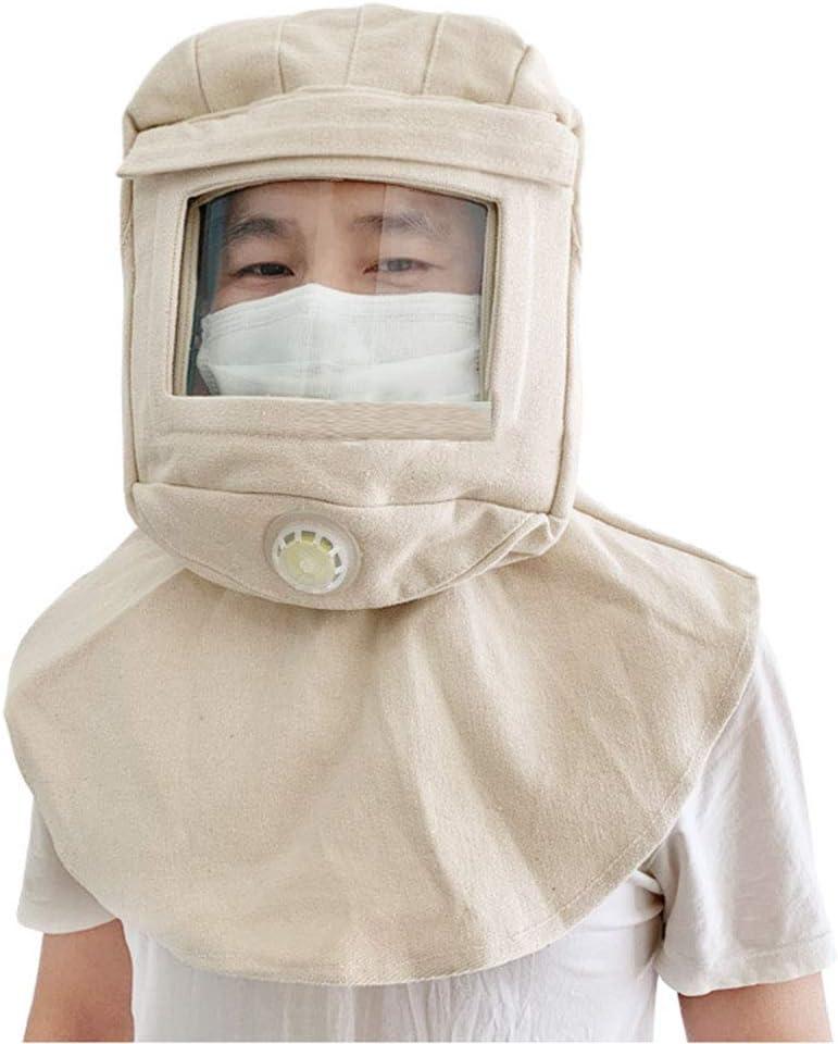 Tapa Protectora Capucha de protección Laboral con Lente Curva y válvula de respiración Arena a Prueba de Viento Antisalpicaduras Protección UV A Prueba de Golpes para la producción Industrial