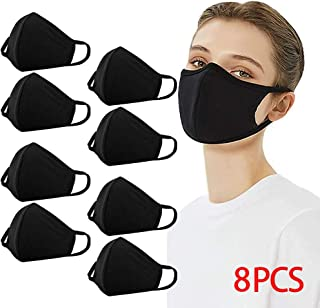 Reusable Dustproof Mask PM2.5 Windproof Foggy Haze Pollution Respirator Face Mouth Cover Washable (8 Pack)