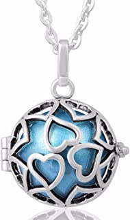 Harmony Bola Eternal Love Locket Pendant Necklace 20mm Music Chime Ball Mexico Bell & 30