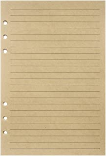 A5 Refill Paper, Lined Craft Paper for Large Leather Journal Notebook Traveler Journal Inserts 200 Pages