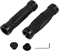 Bike Handlebar Grips, Double Lock-on Bicycle Handle Bar, Soft Non-Slip-Rubber Hand Grip Comfortable Ergonomic for BMX, Mou...