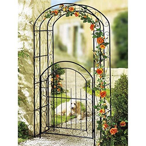 Trädgårdsbågar med grindar utomhus dekorativa blommiga växtstöd för rosor Klättring växter Stöd Archway Garden Decoration, 215 x 115cm
