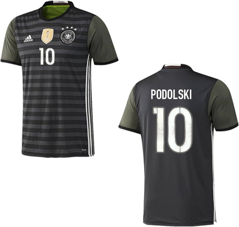 Adidas DFB 4Sterne Away Deutschland Auswärtstrikot grau grau grau mit Flock EM2016, Nummer und Name 10 - Podolski, Größe 140 B01BWHPBZ8  Online-Verkauf 3f9144