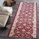 Carpeto Rugs Läufer Teppich Rot Burgund Orientalisch Flur Eingangsbereich Meterware - Teppichläufer in Viele Größen 70 x 150 cm