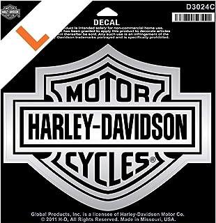 Harley Davidson Aufkleber B&S Groß Silber