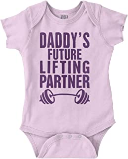 Daddys Future Lifting Partner Athletic Baby Romper Bodysuit