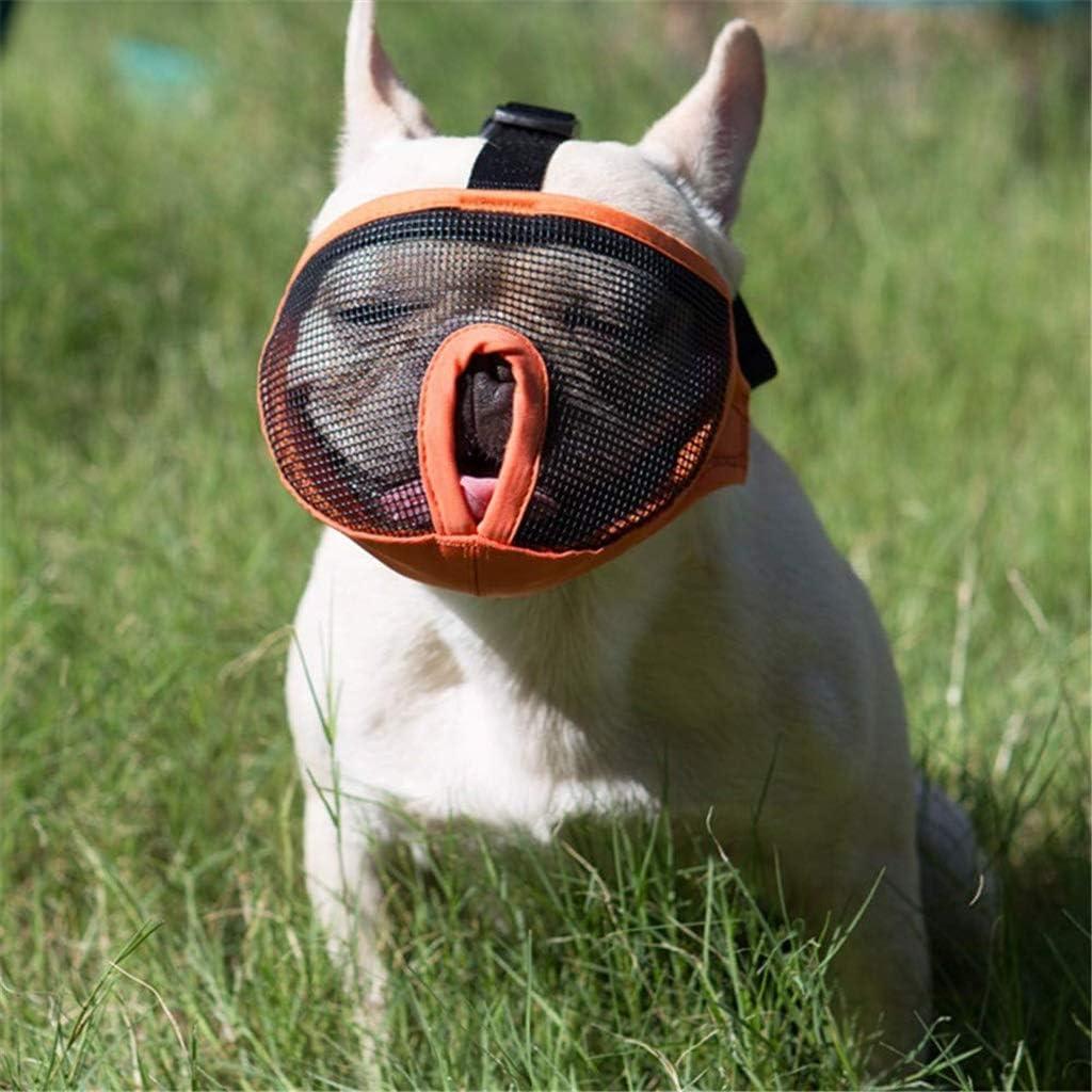 AOIWE Kurze Schnauze Haustier Hund Maulk/örbe Verstellbare Franz/ösische Bulldogge Maulkorb Hundemundmaske Atmungsaktive Schnauze f/ür Anti-Stop-Bellen-Zubeh/ör