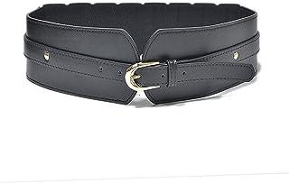 أحزمة جلدية للنساء إبزيم حزام مطاطي كلاسيكي فستان مطاطي حزام خصر مرن