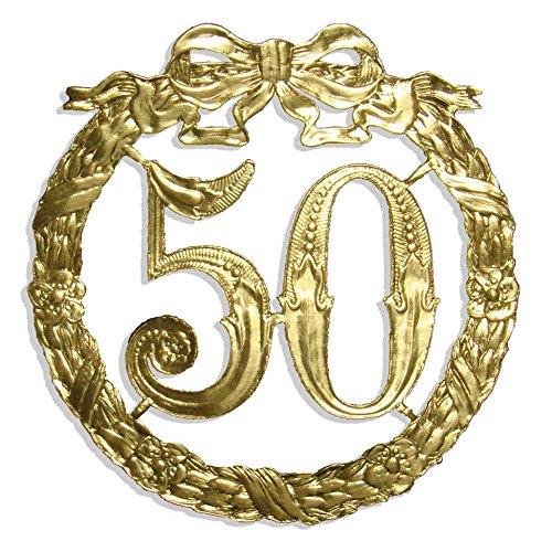 Walter Kunze Jubiläumszahl 50, Ø 13 cm, Gold, Jubiläumskranz