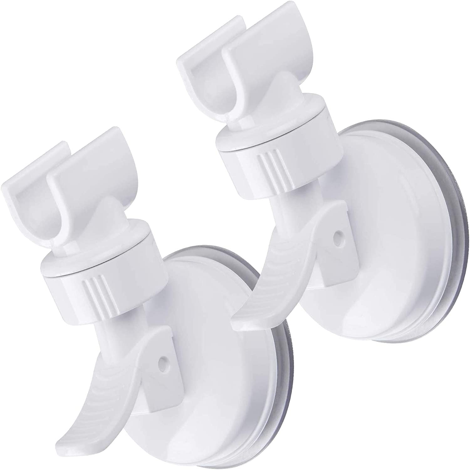 OUO Adjustable Shower Head holder 2pcs white Removable Handheld Showerhead /& Wall Mounted Suction Bracket Bathroom Suction Cup Handheld Shower head Bracket