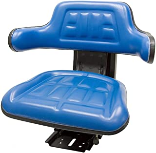 Blue TRAC SEATS Brand Waffle Style Universal Tractor Suspension SEAT with TILT FITS Ford/New Holland 4000 4100 4110 4330 4600 4610 (Same Day Shipping - Delivers in 1-4 Business Days)