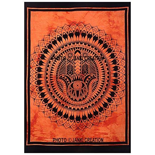 Indian Poster Größe 30 x 40 Hippie Hippie-Poster Indische Baumwolle Mandala Wandbehang Decor Wohnheim klein Poster, Mandala Wandteppich