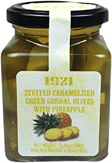 Sponsored Ad - Single Pack Spanish Caramelized Stuffed Olives With Pineapple 10.58oz | Gourmet Stuffed Olives Imported | P...