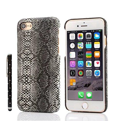 Sconosciuto iPhone 7 Custodia Case, Magro Leggera Duro Plastica Copertura Protettiva Pelle di Pitone Design Seire per Apple iPhone 7 4.7 inch X 1 Penna dello Stilo