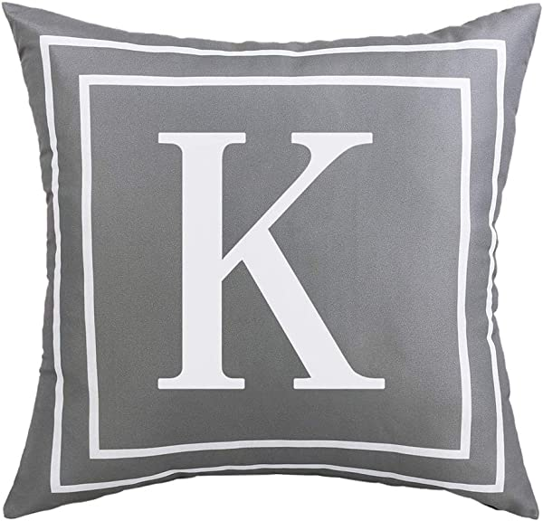 Aland Cushion Cover English Letter Print Throw Pillow Case Cushion Cover Home Car Office Decoration K