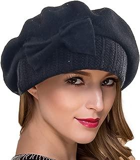 Women Wool Berets Classic French Beret Dress Cute Beanie Winter Hats Hy022