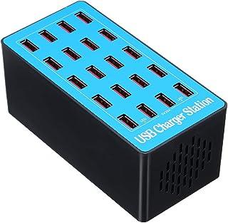 docooler 20 Ports USB Ladegerät mit Adapter für die Ladestation, universell kompatibel für den Einsatz in der Familie und im Büro.