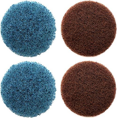 Replacement Scrubber Pads Medium and Heavy-Duty 4-Pack Compatible with Dremel Versa Cordless Power Cleaner Tool